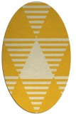 rug #1158219 | oval yellow graphic rug