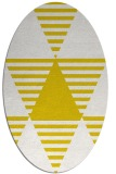 rug #1158227 | oval yellow rug
