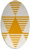 rug #1158255 | oval light-orange rug