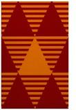 rug #1158479 |  red-orange retro rug
