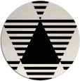 rug #1158643 | round black abstract rug