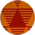 rug #1158899 | round orange retro rug