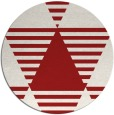 rug #1158903 | round red graphic rug