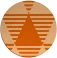 rug #1158915 | round red-orange retro rug