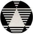 rug #1158927 | round white graphic rug