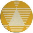 rug #1158955 | round yellow retro rug