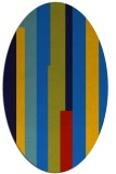 rug #1159775 | oval blue graphic rug