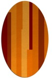 rug #1159951 | oval orange graphic rug