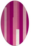 rug #1159967   oval pink abstract rug