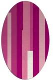 rug #1159967 | oval pink retro rug
