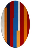rug #1159999 | oval red abstract rug