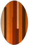rug #1160019 | oval red-orange stripes rug