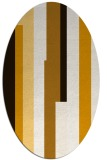 rug #1160043 | oval brown stripes rug