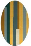 rug #1160071 | oval light-orange retro rug