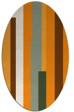 rug #1160103 | oval light-orange stripes rug