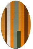 rug #1160103 | oval light-orange graphic rug