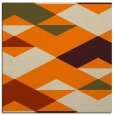 rug #1163055   square orange retro rug