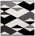 rug #1163059 | square black abstract rug