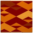 rug #1163263 | square red-orange rug