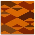 rug #1163327 | square red-orange abstract rug