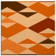rug #1163331 | square red-orange abstract rug