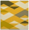 rug #1163371 | square yellow abstract rug