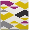 rug #1163379 | square yellow abstract rug