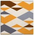 rug #1163419 | square light-orange abstract rug
