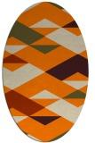 rug #1163423 | oval orange retro rug