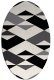 rug #1163427 | oval black graphic rug