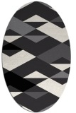 rug #1163430 | oval abstract rug