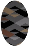 rug #1163431 | oval black retro rug