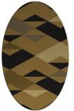 rug #1163443 | oval black rug