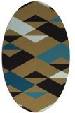 rug #1163451   oval black graphic rug