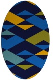 rug #1163455 | oval blue graphic rug