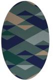 rug #1163463 | oval blue abstract rug