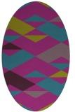 rug #1163503 | oval pink graphic rug
