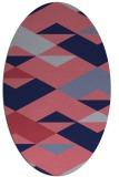 rug #1163515 | oval pink retro rug