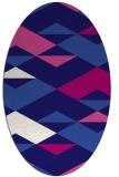 rug #1163523 | oval blue-violet graphic rug
