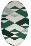 rug #1163555 | oval green abstract rug