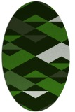 rug #1163563 | oval light-green rug