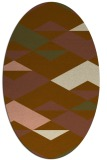 rug #1163571   oval brown graphic rug