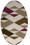 rug #1163579 | oval beige graphic rug