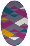 rug #1163591 | oval graphic rug
