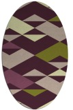rug #1163595 | oval abstract rug