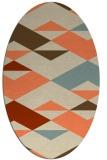 rug #1163639 | oval orange abstract rug