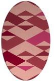 rug #1163655 | oval pink retro rug