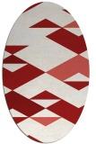 rug #1163687 | oval abstract rug