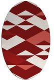 rug #1163690 | oval abstract rug