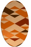 rug #1163699 | oval red-orange abstract rug